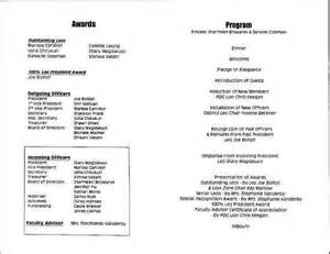 athletic banquet program template 2001 leo club banquet mt h s leo club