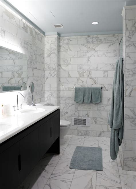 marble bathroom wall tiles why choose large rectangular tile blogher