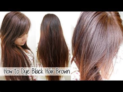 dying hair from brown to light brown without how to dye hair from black to brown without l