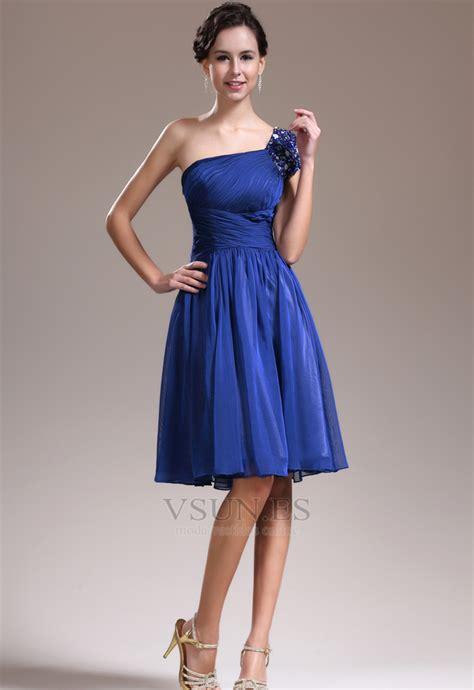 vestidos dama de honor cortos vestido de dama de honor corte a un s 243 lo hombro gasa corto