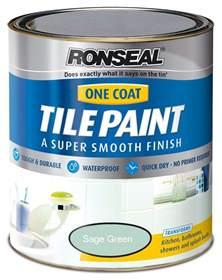 Ronseal Bathroom Tile Paint Ronseal One Coat Bathroom Kitchen Tile Paint 750ml 7