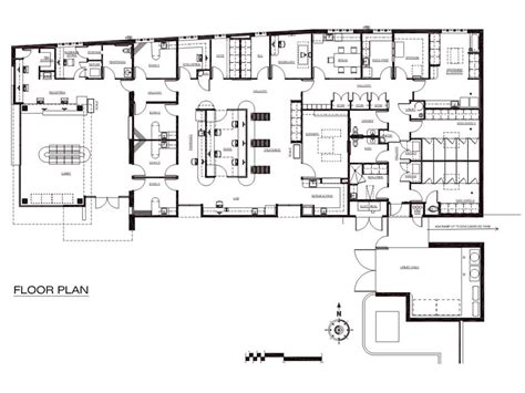 maternity hospital floor plan a veterinary hospital with a view