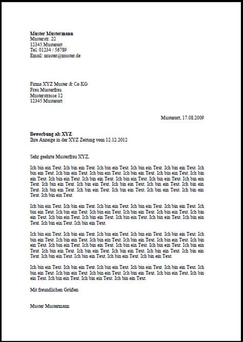 Bewerbung Muster Fur Ein Bewerbungsschreiben Standard Anschreiben Times Bewerbungsschreiben Muster 252 Ber 100 Berufe
