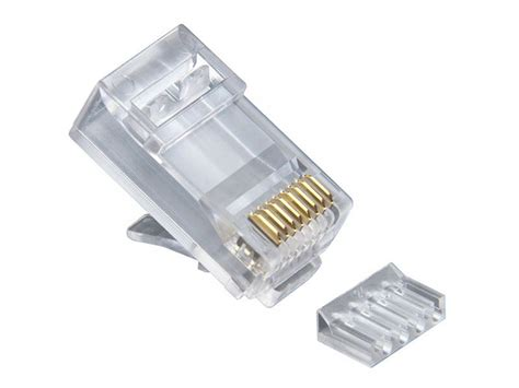 Cat 6 Rj 45 Connector By platinum tools rj45 8p8c cat6 2 pcround solid 3 prong
