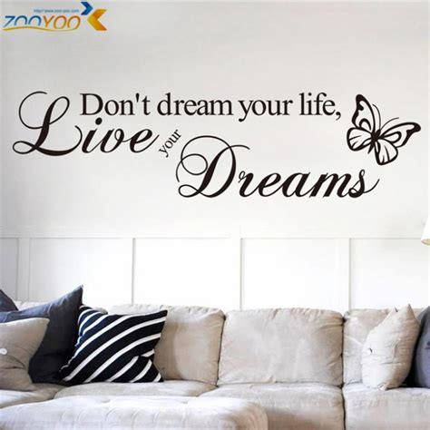 home decor at the bookstore life at cloverhill aliexpress com buy don t dream your life quotes wall