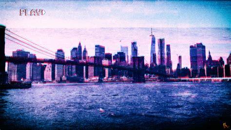york city vhs vaporwave photoshop glitch art