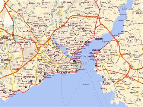 map of istanbul dot turkey 05 istanbul map 1