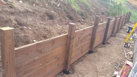 wood retaining wall help building construction diy