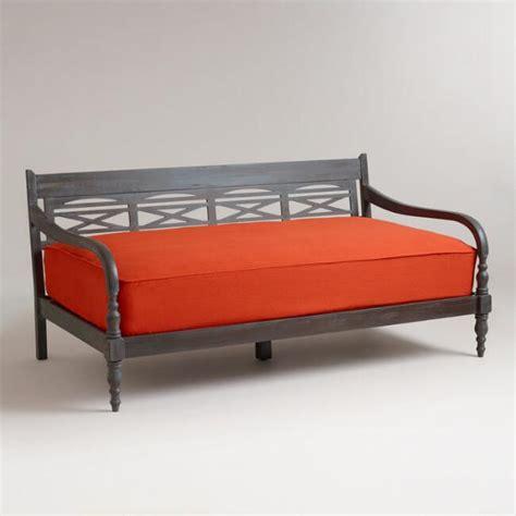 orange futon cover spice orange burlap mattress cover world market