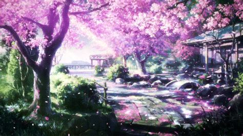 wallpaper kaligrafi alam cherry blossoms scenery gif find share on giphy