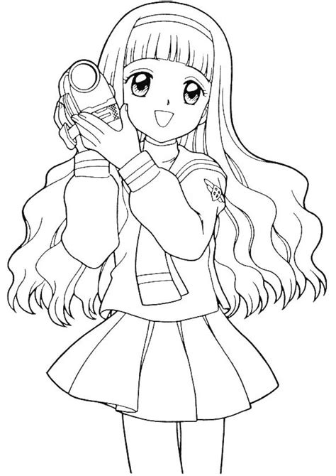 Sakura Coloring Pages Learn To Coloring Cool Anime Coloring Pages