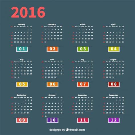 calendar template ai 2016 calendar template vector free