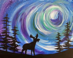 how do the northern lights work popup paint northern lights moose at laramie vfw