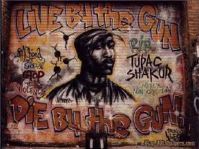 Tupac Shakur R I P Graffiti Mural Wallpapers