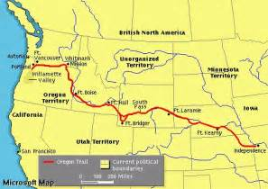 oregon trail route map francis parkman and the oregon trail