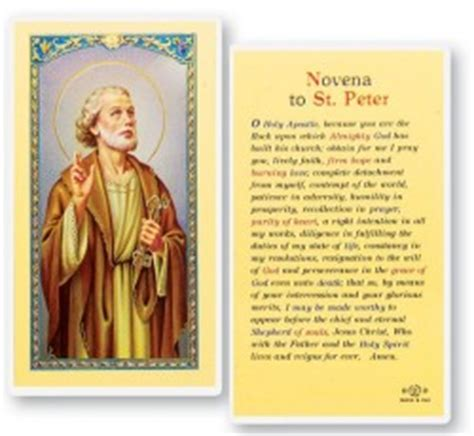 novena to buy a house view all st peter prayer card catholic faith store