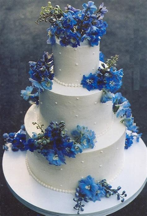 Blue Wedding Cakes Pictures