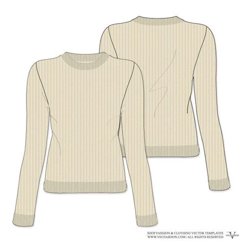 sweater template photoshop knitted sweater vector template
