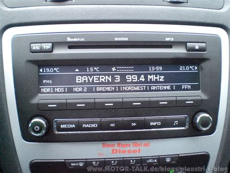 swing radio fahrbericht skoda octavia combi 1 6tdi plaustri 180 s