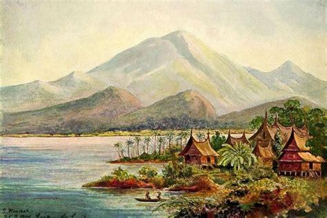 koleksi gambar sketsa lukisan pemandangan keren menakjubkan oki adi kwikku