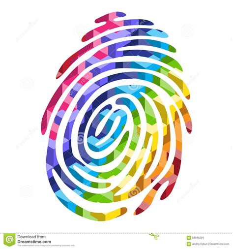 color finger color fingerprint stock vector image 58946294