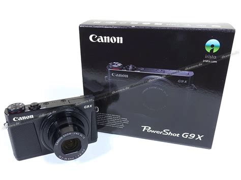 Kamera Canon G9 die kamera testbericht zur canon powershot g9 x