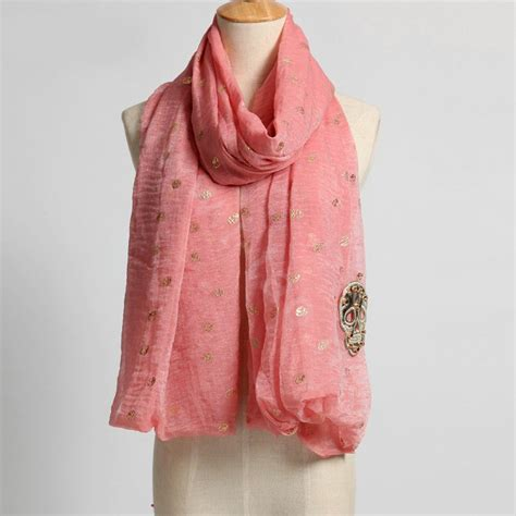buy wholesale high end fashion silk skull scarf shawl