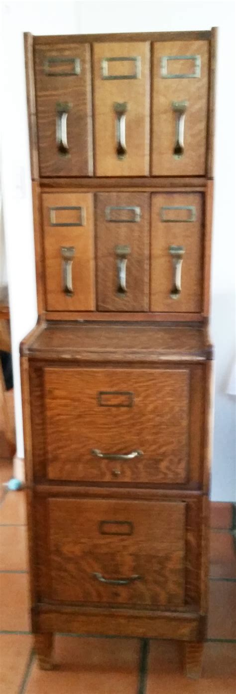 Antique Oak File Cabinet Antique Oak Library Card Filing Cabinet Omero Home