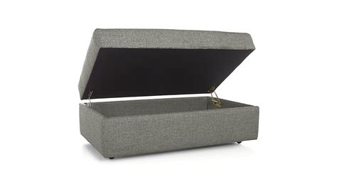 storage ottoman casters lounge ii storage ottoman with casters crate and barrel