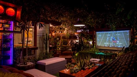 diy backyard movie theater entertainment to your backyard by building an outdoor