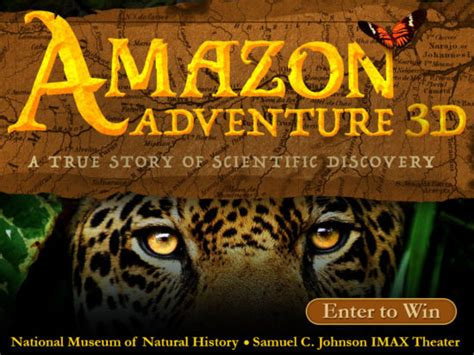 Outdoor Adventures Giveaway 2017 - giveaway see amazon adventure 3d at the national museum of natural history