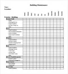 hotel maintenance checklist template sle maintenance checklist template 9 free documents
