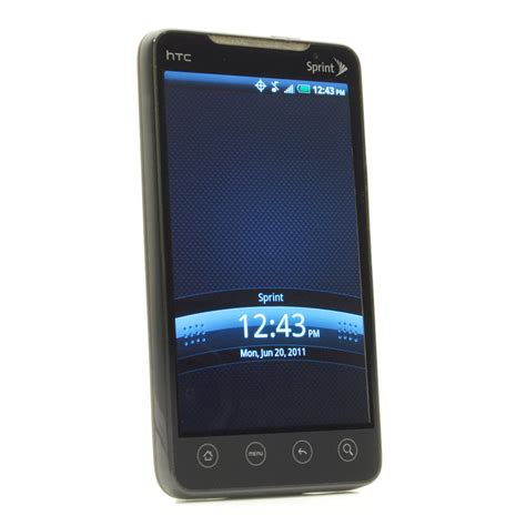 Sprint Mobile Phone Number Lookup Htc Evo 4g 1gb Black Sprint Smartphone 821793000578