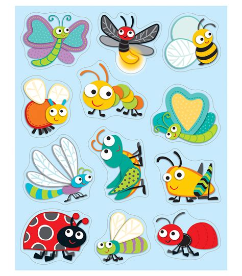 buggy for bugs cut outs grade pk 8 carson dellosa publishing buggy for bugs shape stickers grade pk 5 carson dellosa