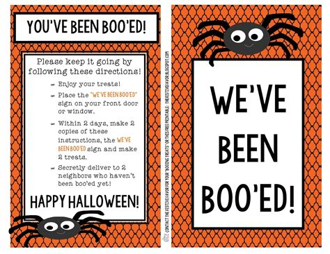 printable you ve been booed poem the festive favor