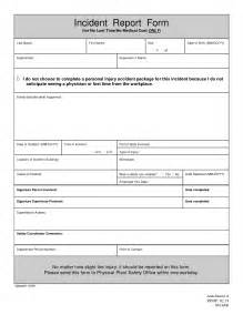 incident report form template best photos of sle incident report template