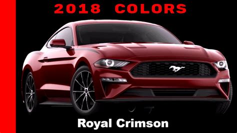 ford mustang colors 2018 ford mustang colors