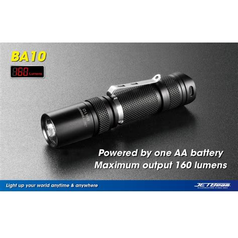 Jetbeam Ba10 Senter Led Cree Xp G R5 160 Lumens jetbeam ba10 senter led cree xp g r5 160 lumens black