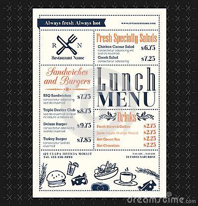 menu design restaurants food pictures