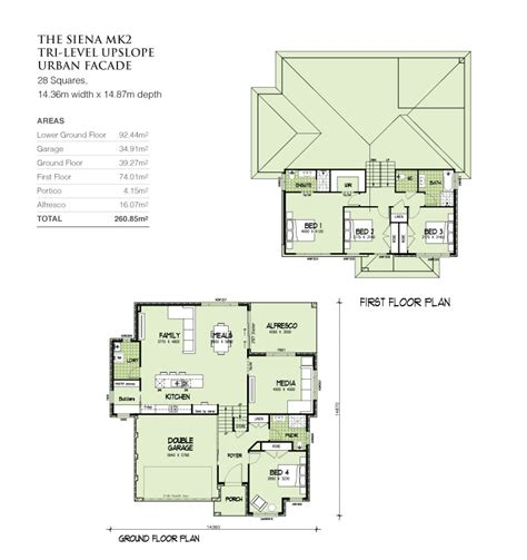 tri level floor plans mkii tri level upslope 28 squares home design