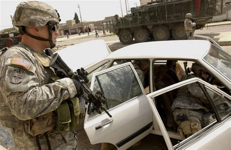 Dmv Search U S Army Soldiers Search A Vehicle During A Neighborhood Patrol