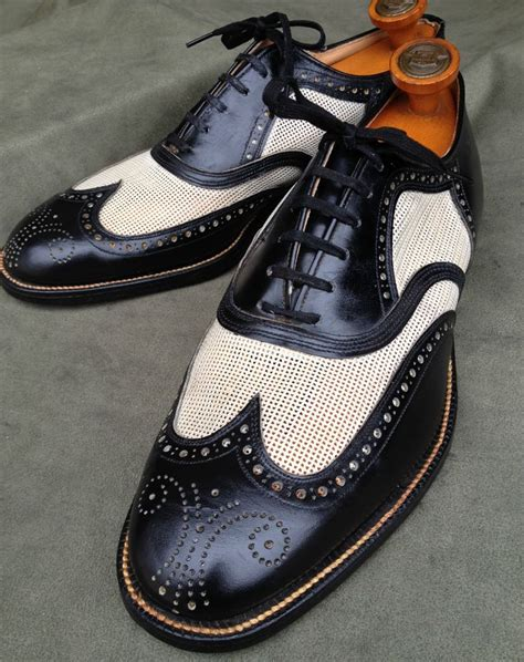 mens vintage style boots nos 1950 s c wingtip spectator shoes