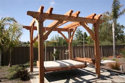 pergola and swing fabulous pergola with swing bed garden landscape