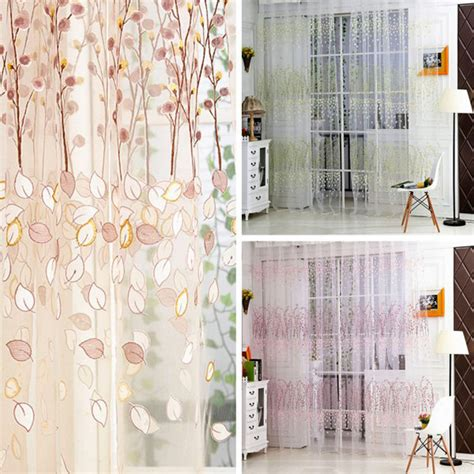 plum flower curtains 1 pc summer style plum flower curtains for living room