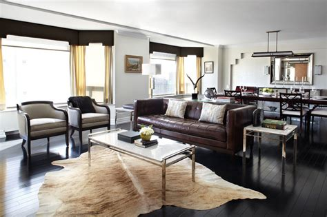Cowhide Rugs Calgary by Cumberland Residence Calgary Transitional Living Room