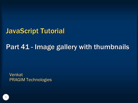 tutorial javascript photo gallery sql server net and c video tutorial image gallery with