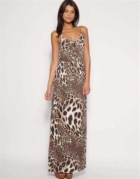 Maxi Dress Leopard asos asos leopard print jersey maxi dress