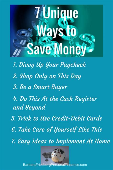 7 Uncommon Ways To Find A by 7 Unique Ways To Save That Will Pave The Way For Financial