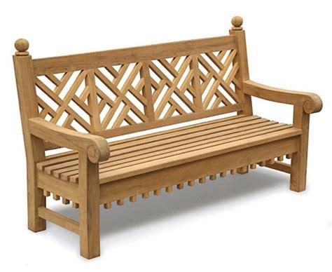6 foot garden bench chiswick teak 6ft chippendale garden bench lattice bench