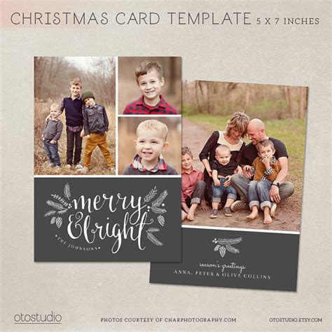 photoshop card templates etsy card template photoshop template 5x7 flat card